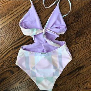 Mara Hoffman Swim - Mara Hoffman Twist Front One piece swimsuit, sz S